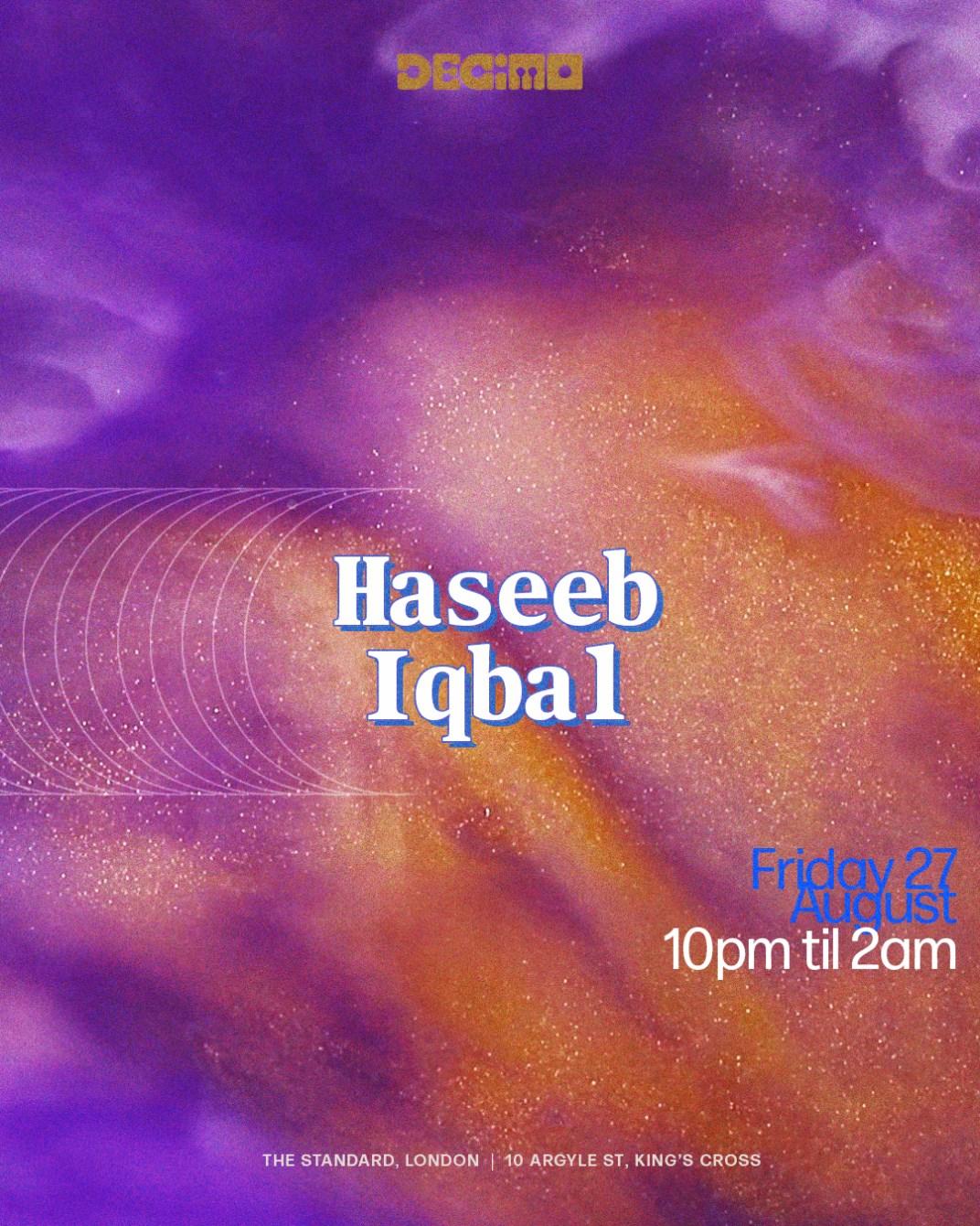 Decimo: Haseeb Iqbal - Flyer front