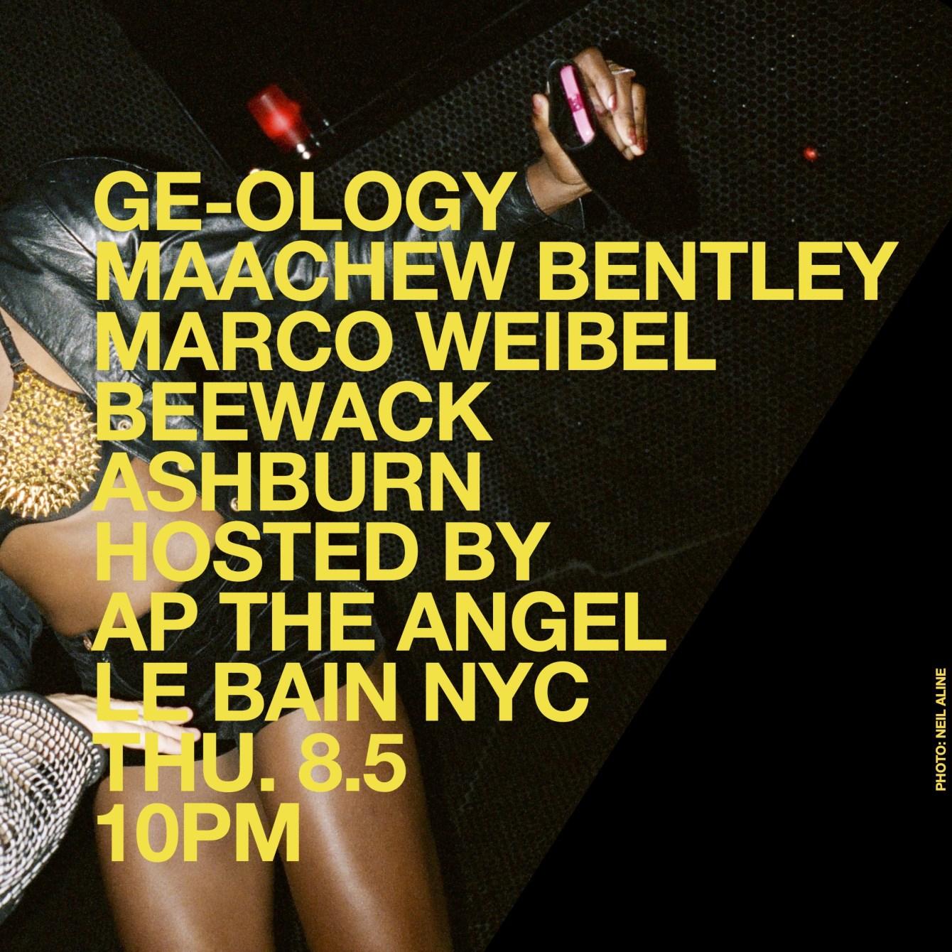 Ge-Ology, Maachew Bentley, Marco Weibel, Beewack & Ashburn - Flyer front
