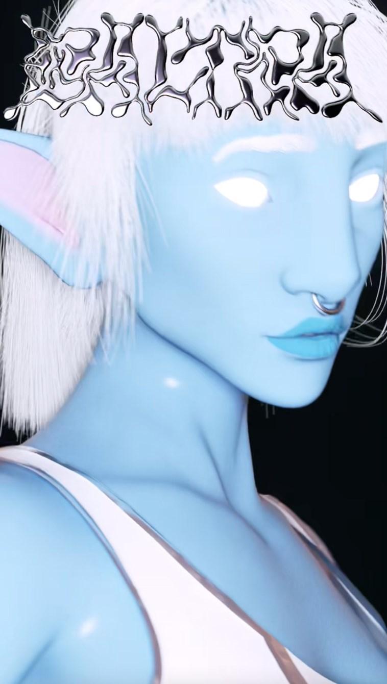 Baltra, Miley Serious, + Mia, The Blue Elf (CGI Performances) - Flyer front
