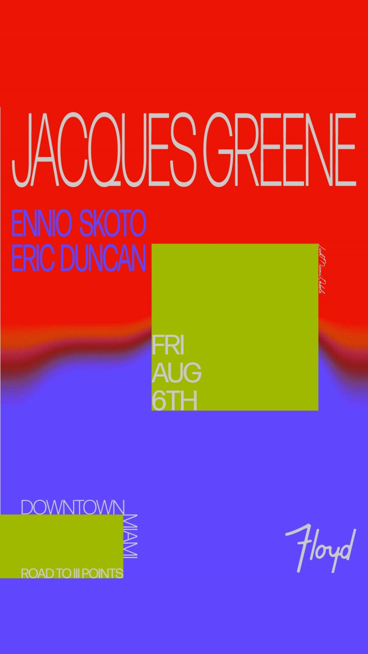 Jacques Greene by Link Miami Rebels - Flyer front