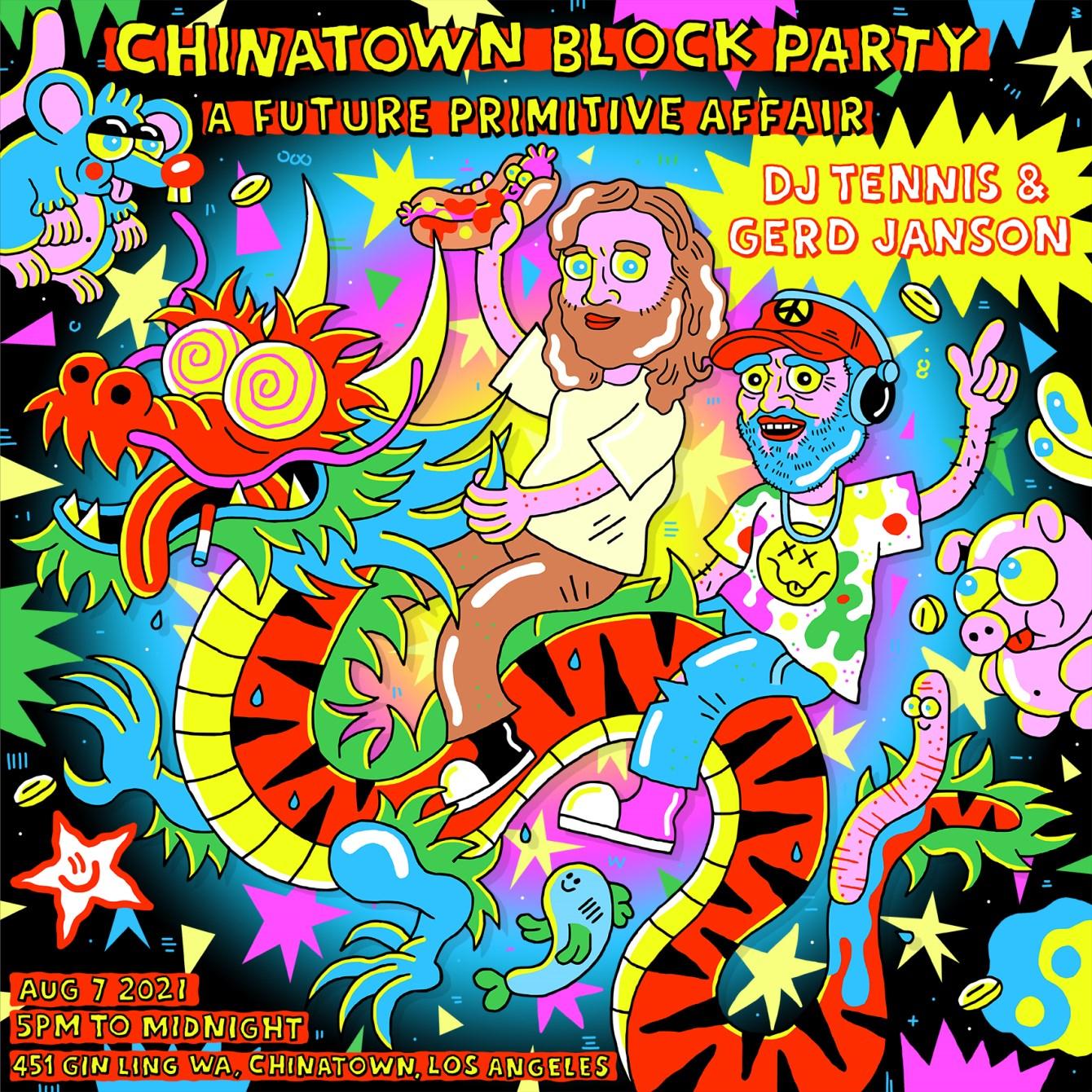 DJ Tennis and Gerd Janson Block Party: A Future Primitive Affair - Flyer front