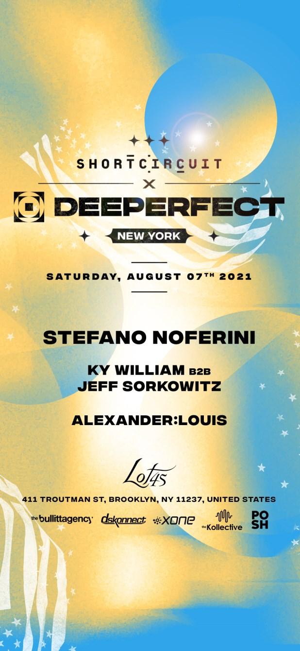 Stefano Noferini: Deeperfect x Short Circuit - Flyer front