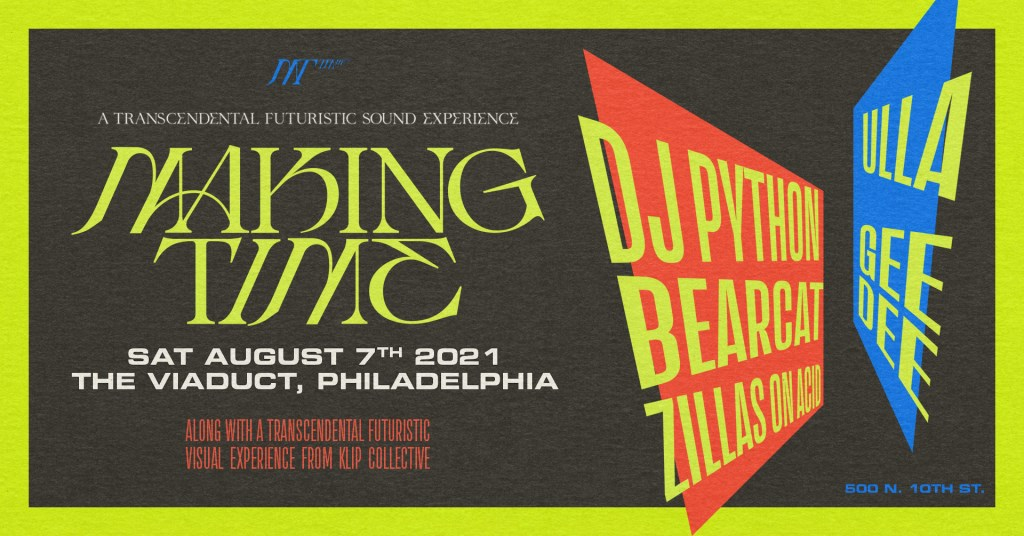 Making Time with DJ Python, Bearcat - Flyer front