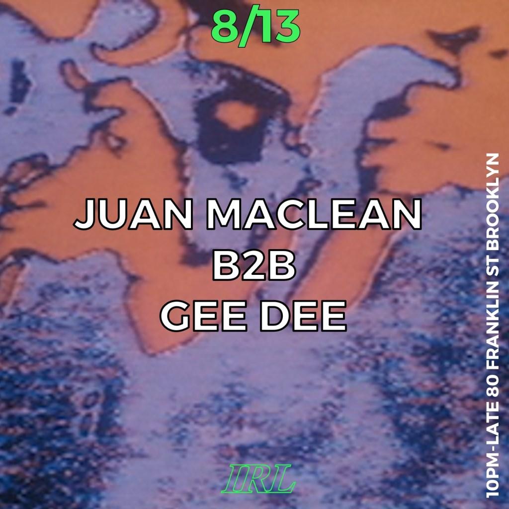 Juan Maclean B2B GEE DEE - Flyer front