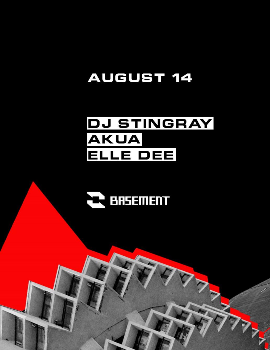DJ Stingray / Akua / Elle Dee - Flyer front