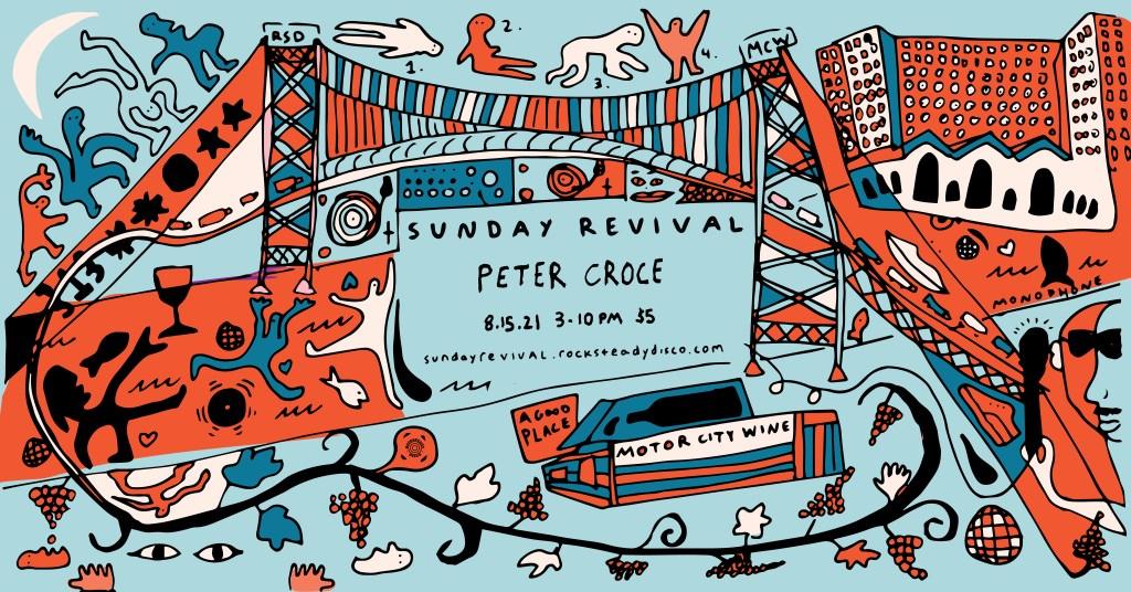 Sunday Revival Returns // Peter Croce Extended set - Flyer front