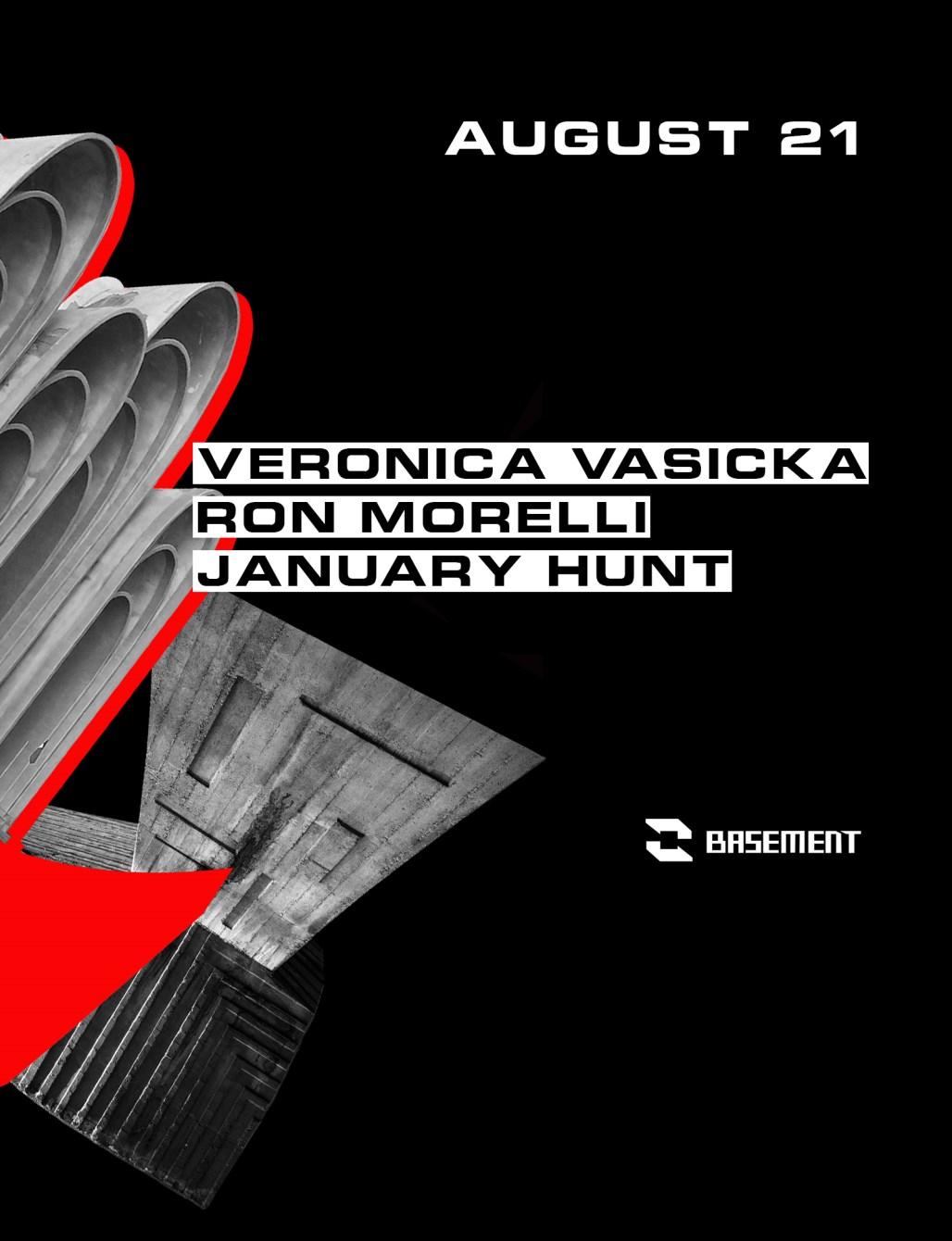 Veronica Vasicka / Ron Morelli / January Hunt - Flyer front