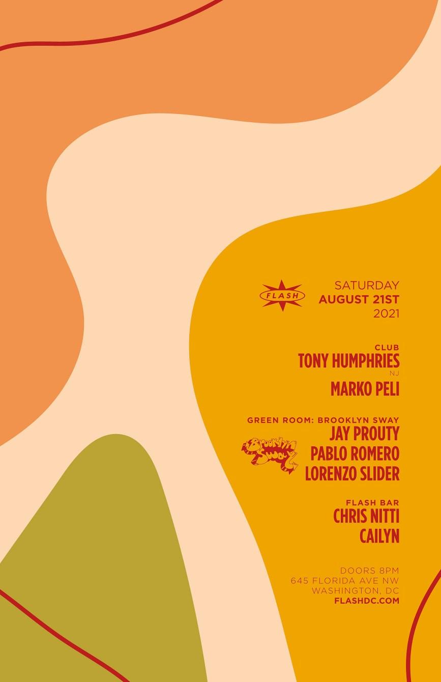 Tony Humphries - Marko Peli - Flyer front