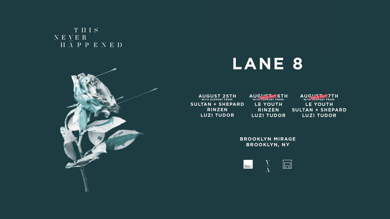 Lane 8 - Brightest Lights Tour (Friday) - Flyer front