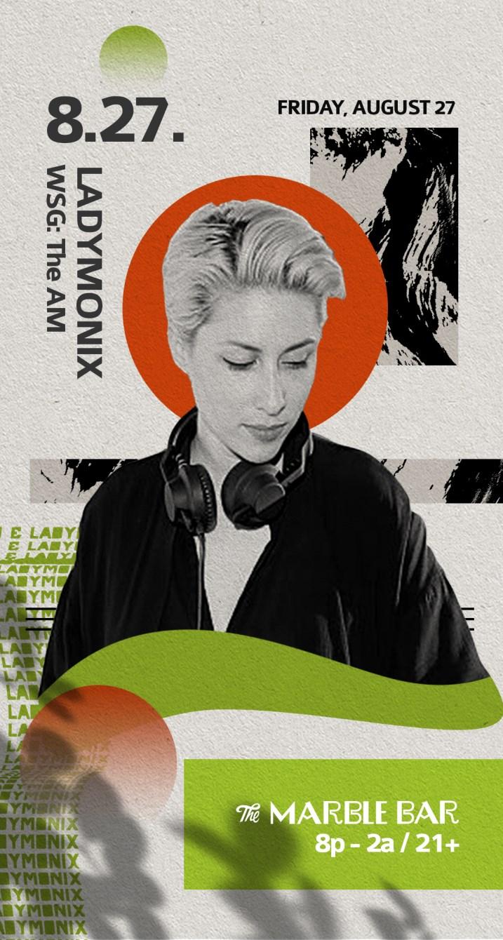 Marble Bar presents: LADYMONIX - Flyer front
