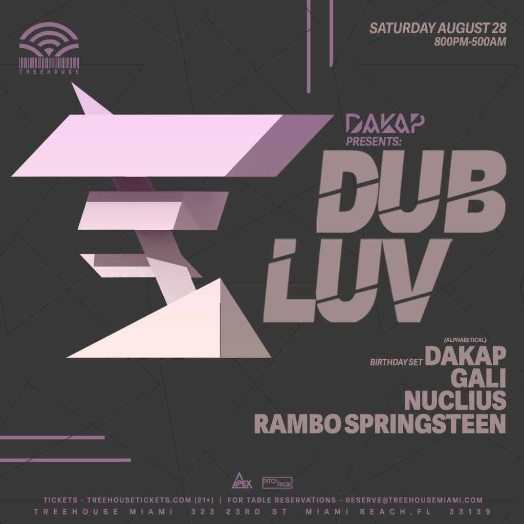 Dakap presents Dub Luv - Flyer front