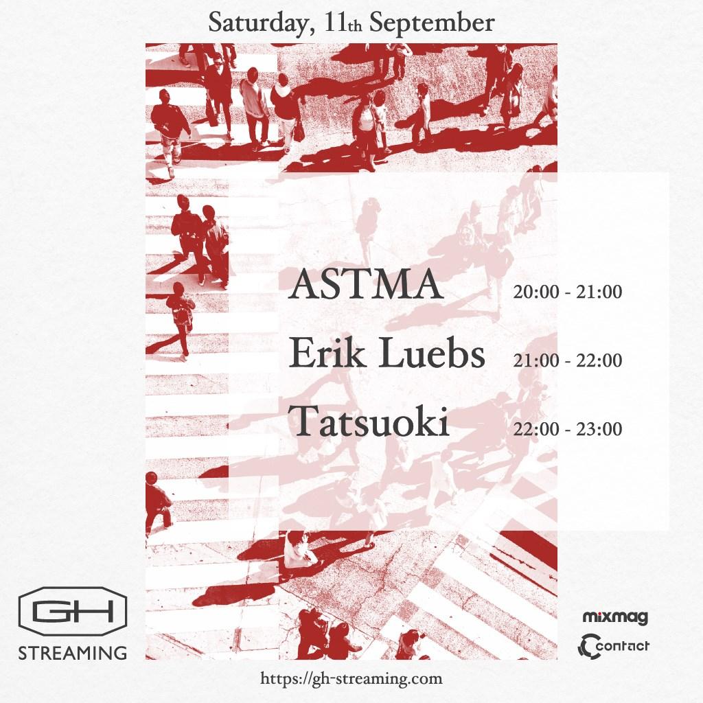 -GH Streaming- Tatsuoki, Erik Luebs, Astma - Flyer front