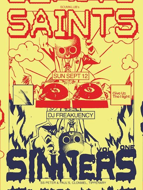 Scumklub's Saints & Sinners Vol.1 in aid of Peter Mcverry Trust - Flyer front