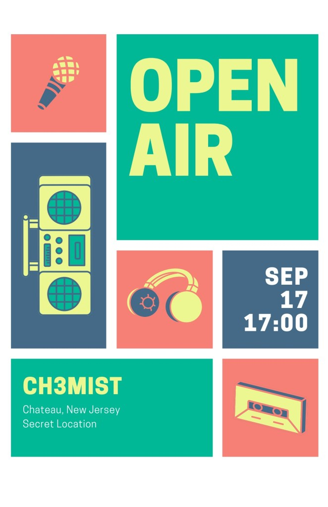 Livestream From Chateau - Flyer front