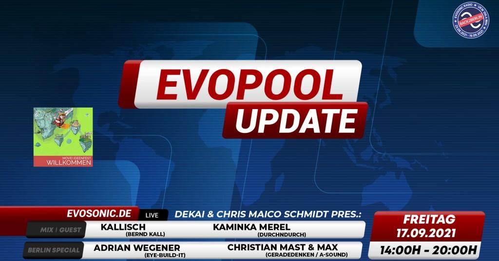 Evosonic Evopool Update Live aus Berlin - Flyer front