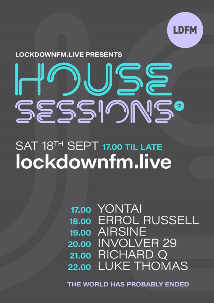 House Sessions 12 - Flyer front