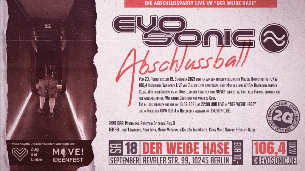 Evosonic Radio Abschlussball - Flyer front