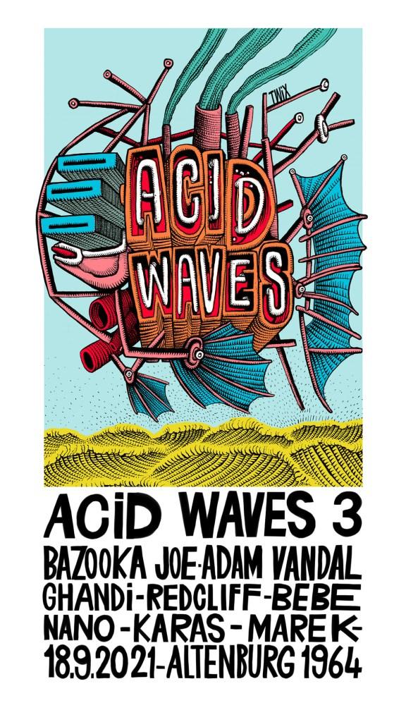 Acid Waves 3 - Flyer front