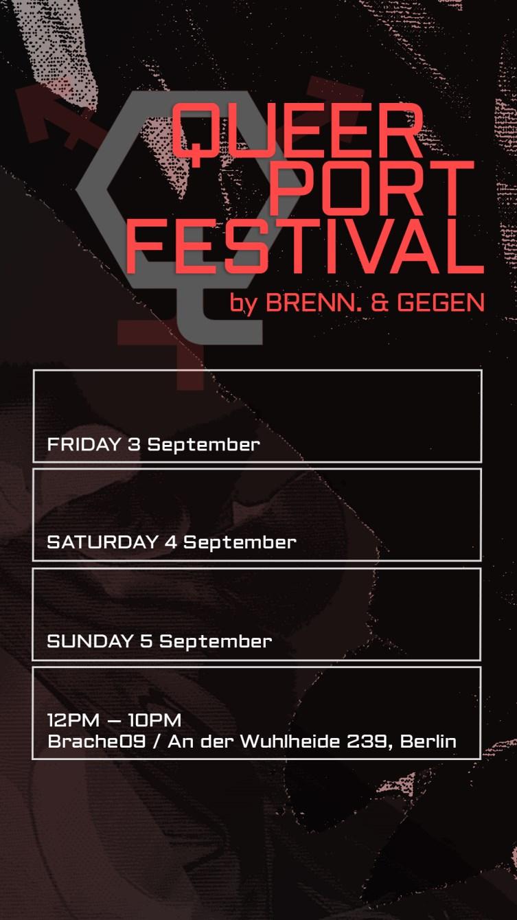 Queerport Festival 2021 - Flyer front