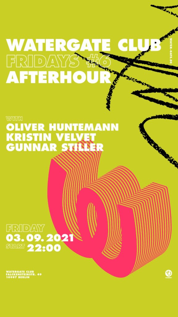 Watergate Fridays Afterhour - Flyer front