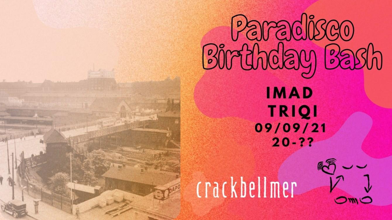 Paradisco Birthday Bash - Flyer front