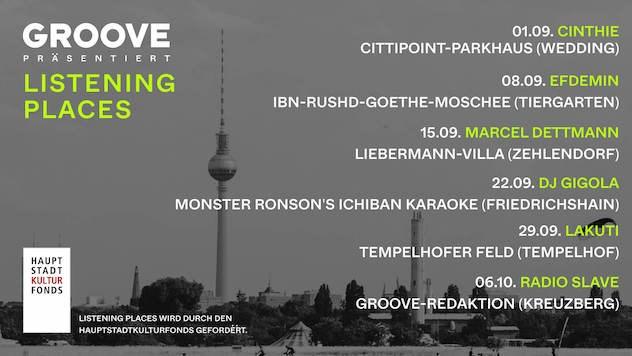 Groove Magazine presents Marcel Dettmann (Listening Places) - Flyer front