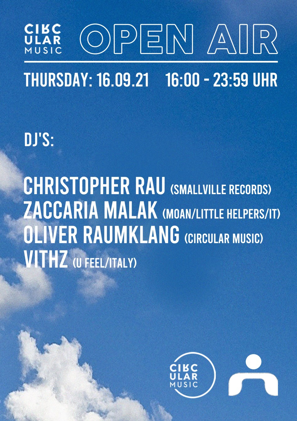 Circular Music 'Showcase' with Christopher Rau and More - Flyer front