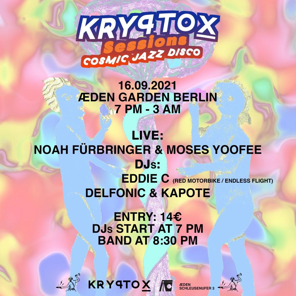 Kryptox Sessions with Noah Fürbringer & Moses Yoofee Live - Flyer back