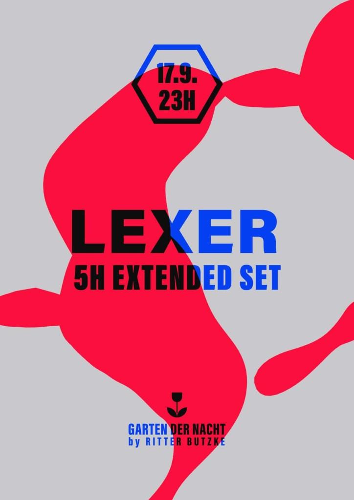 Lexer (5h Set) at Garten der Nacht - Flyer front