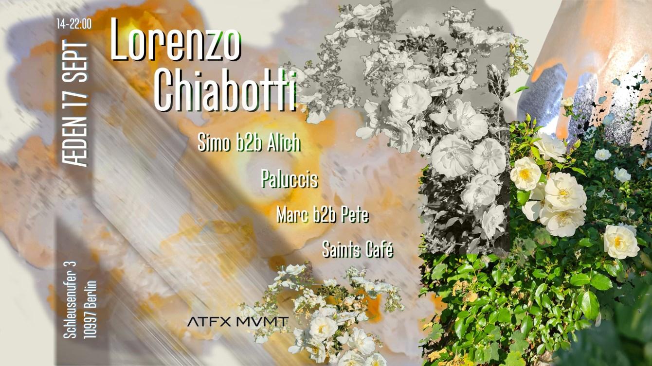 Atfx RAW with Lorenzo Chiabotti, Simo b2b Alich, Paluccis - Flyer front
