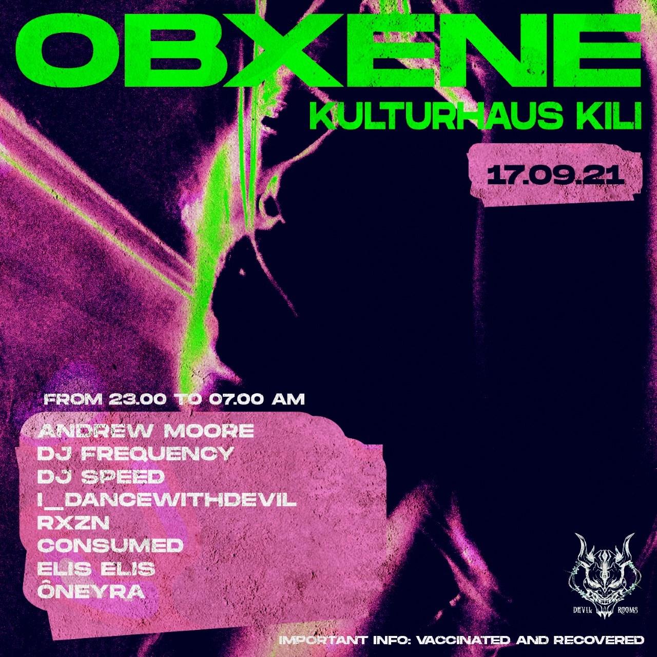 Obxene - Flyer front