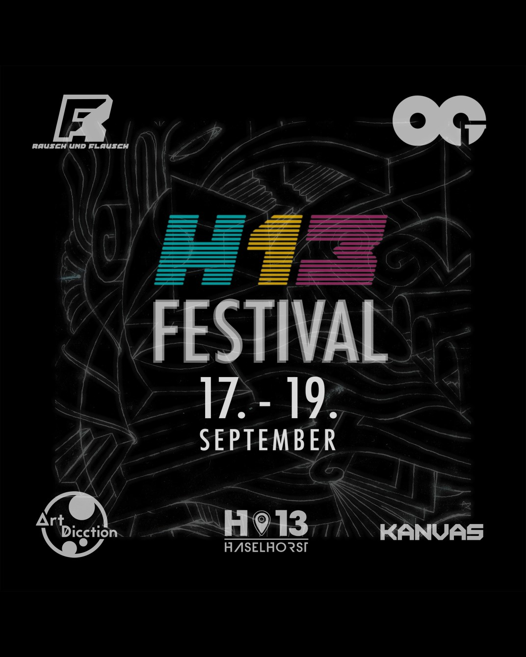 H13 Festival (3G) [Day 1 - Day 3] - Flyer front