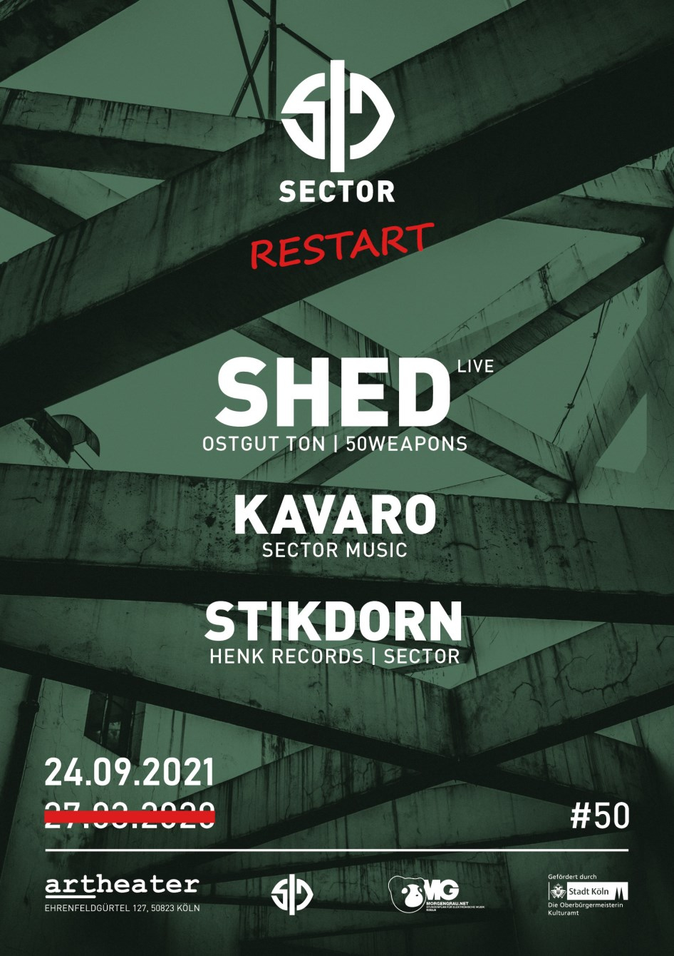 Sector with Shed - Live, Stikdorn & Kavaro - Flyer front