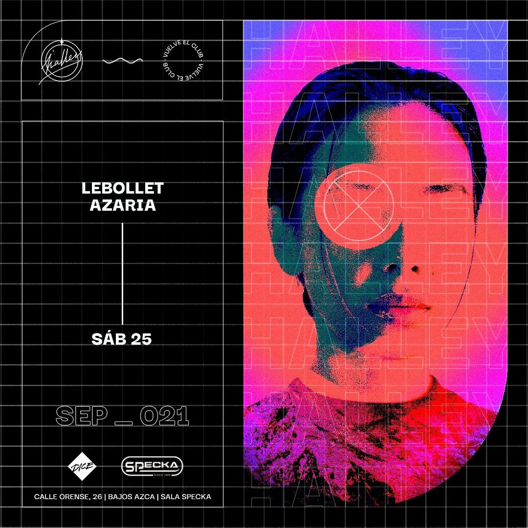 Lebollet + Azaria at Halley - Flyer front