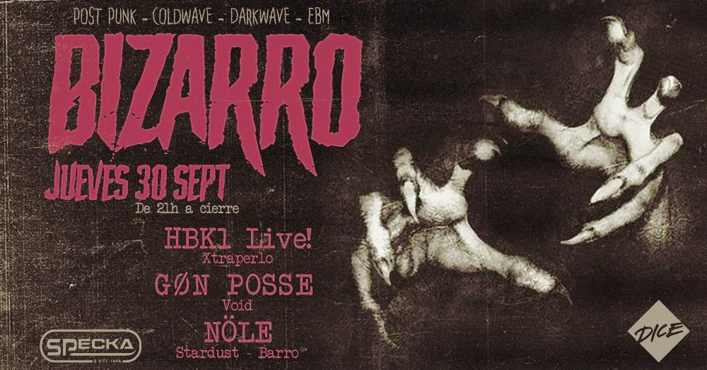 Bizarro, Hbk1 Live! / Gøn Posse - Flyer front