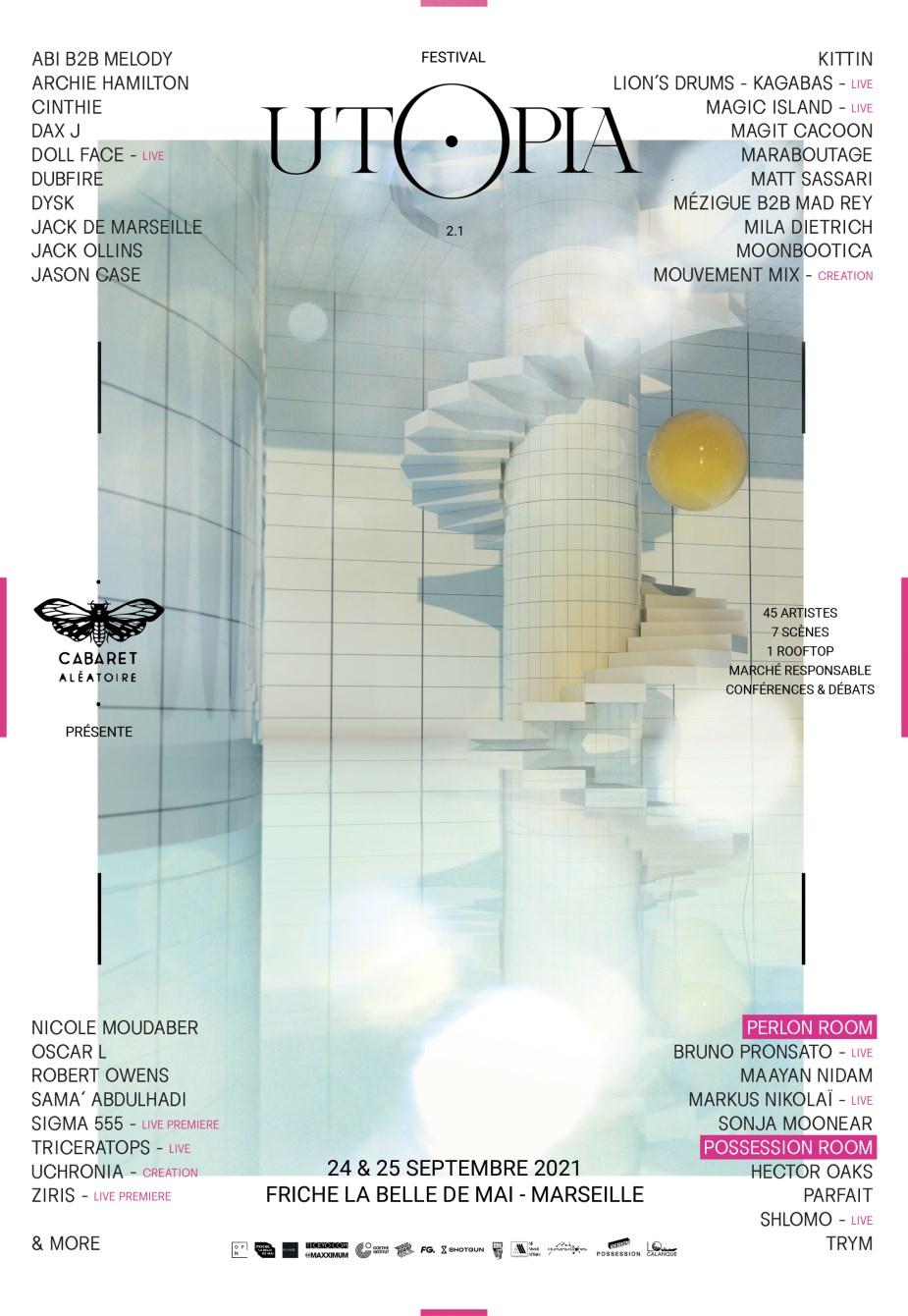 Utopia Festival 2021 - Flyer front