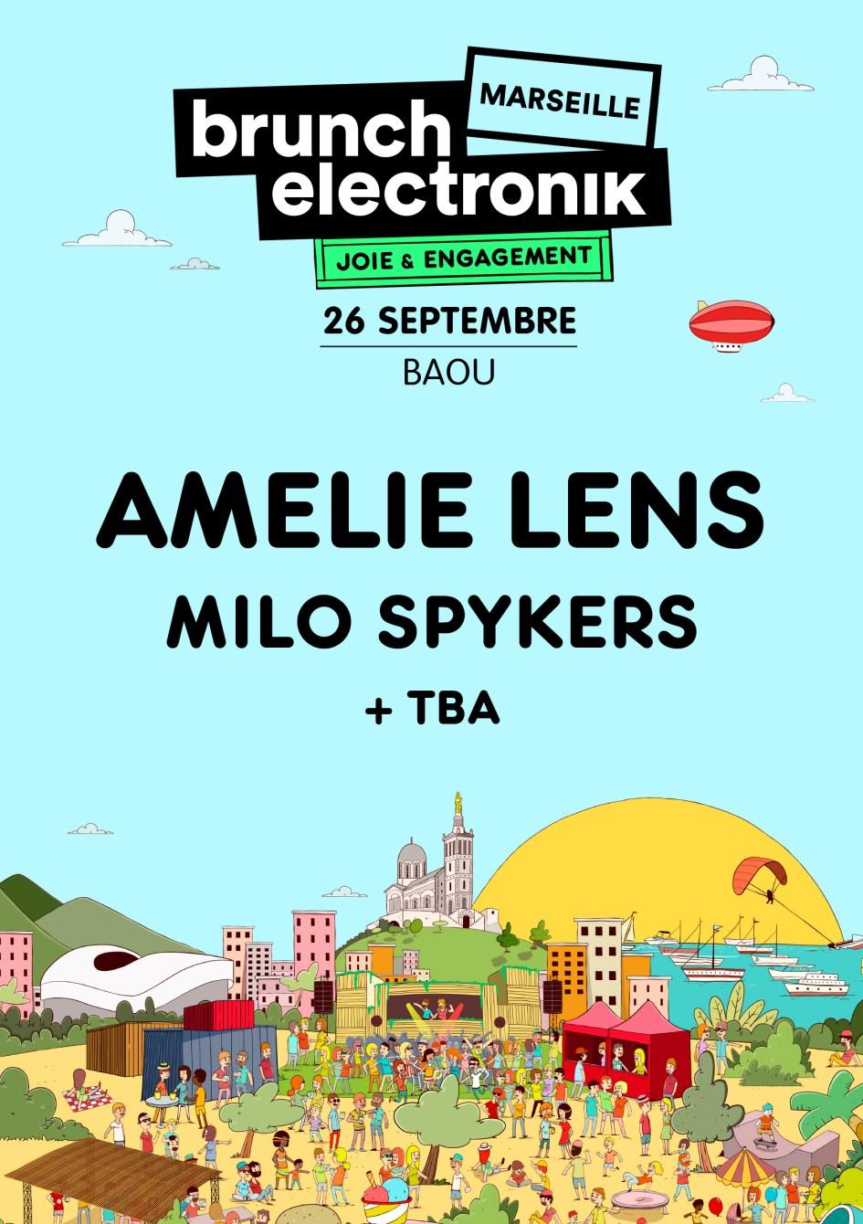 Brunch Electronik Marseille #2: Amelie Lens, Milo Spykers + TBA - Flyer front