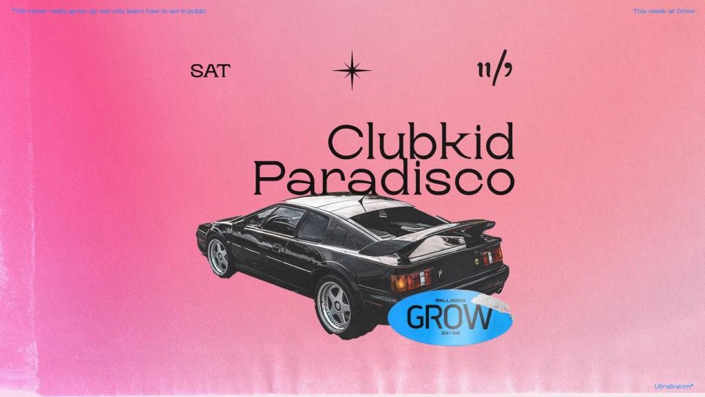 ClubKid & Paradisco - Flyer front