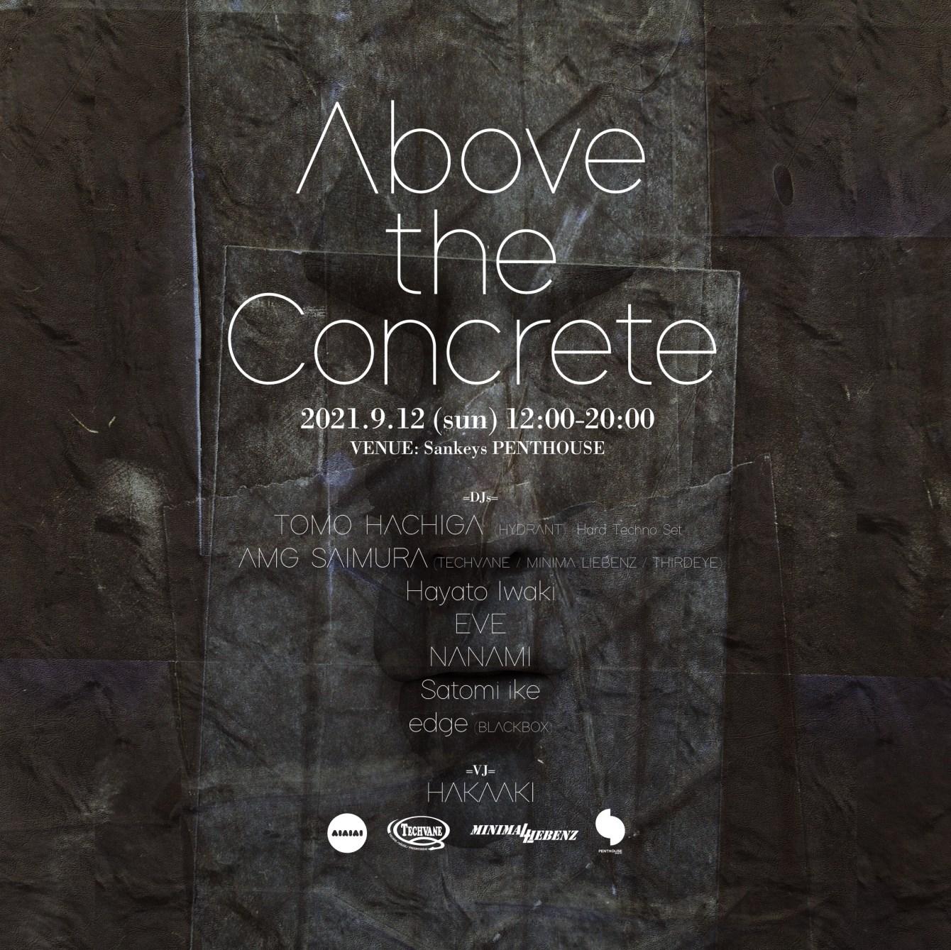 Above the Concrete, Tomo Hachiga, AMG Saimura - Flyer front