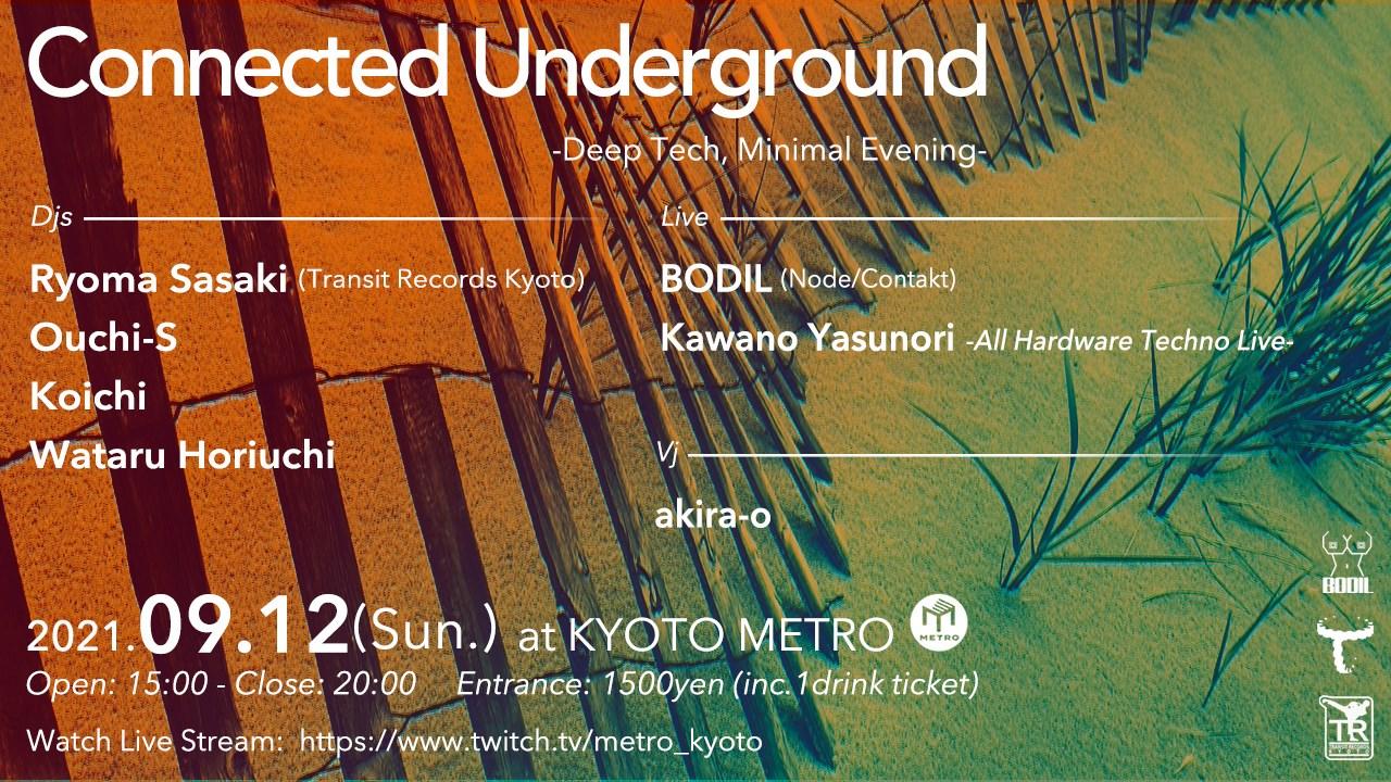 Connected Underground -Deeptech, Minimal Evening- - Flyer front