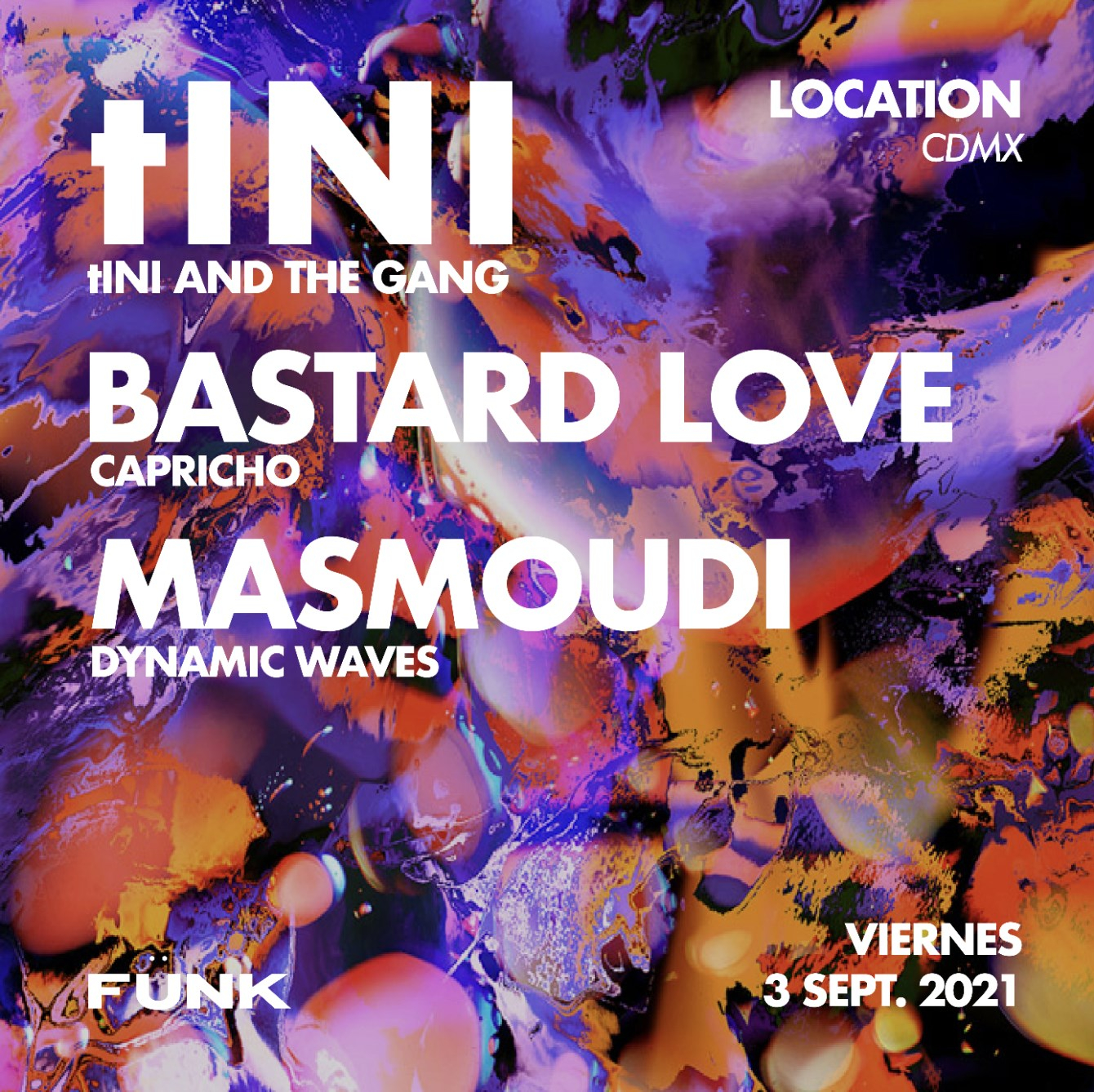 tINI and The Gang - Flyer front