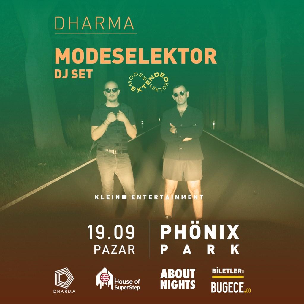 Dharma with Modeselektor - Flyer front