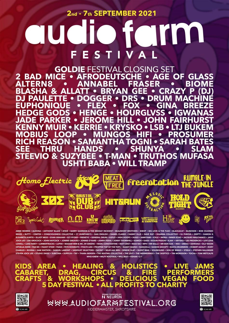 Audio Farm Festival 2021 - Flyer front