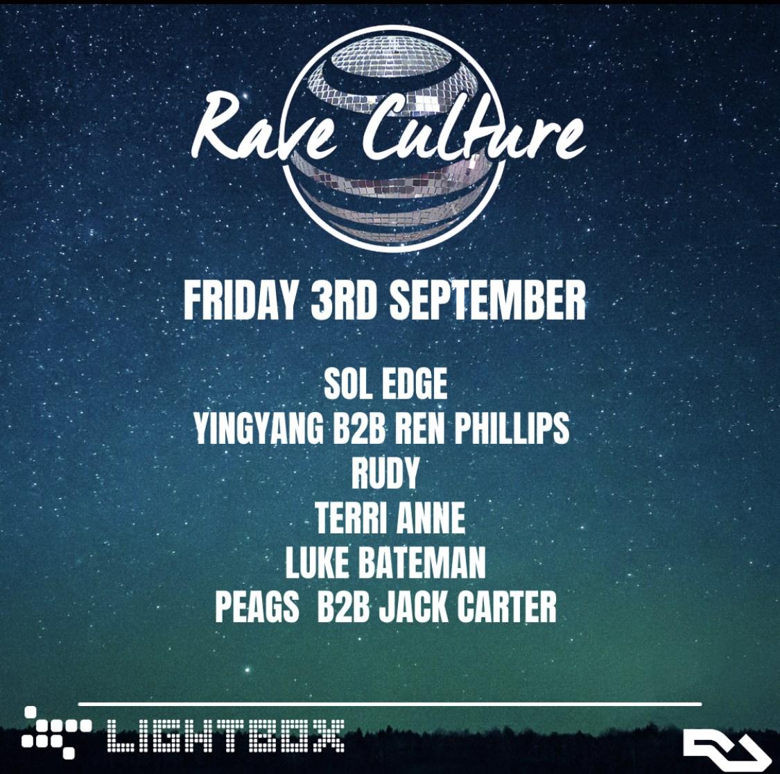 Rave Culture: - Flyer front