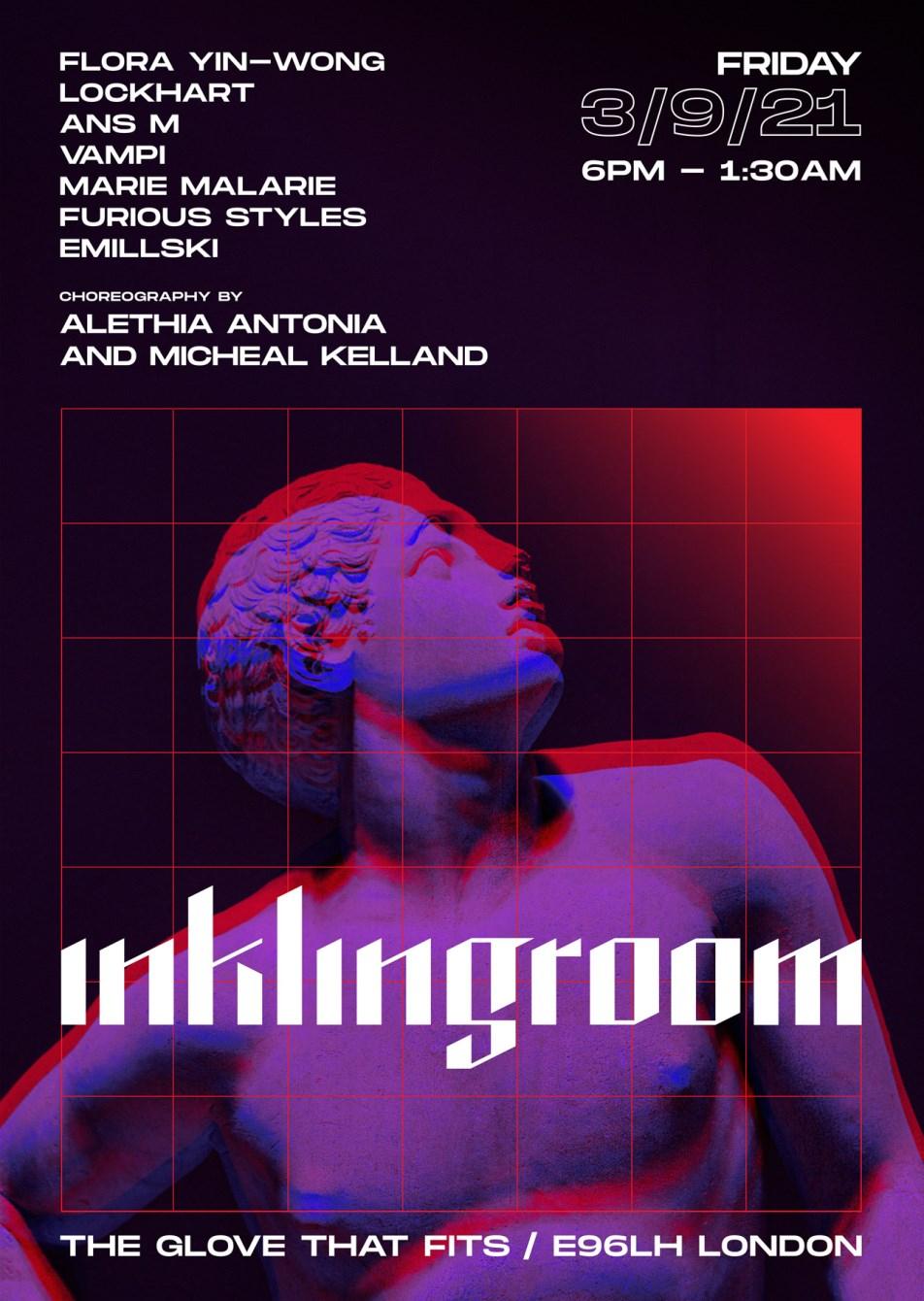inklingroom with Flora Yin-Wong, Lockhart, Ans M, Vampi & More - Flyer front
