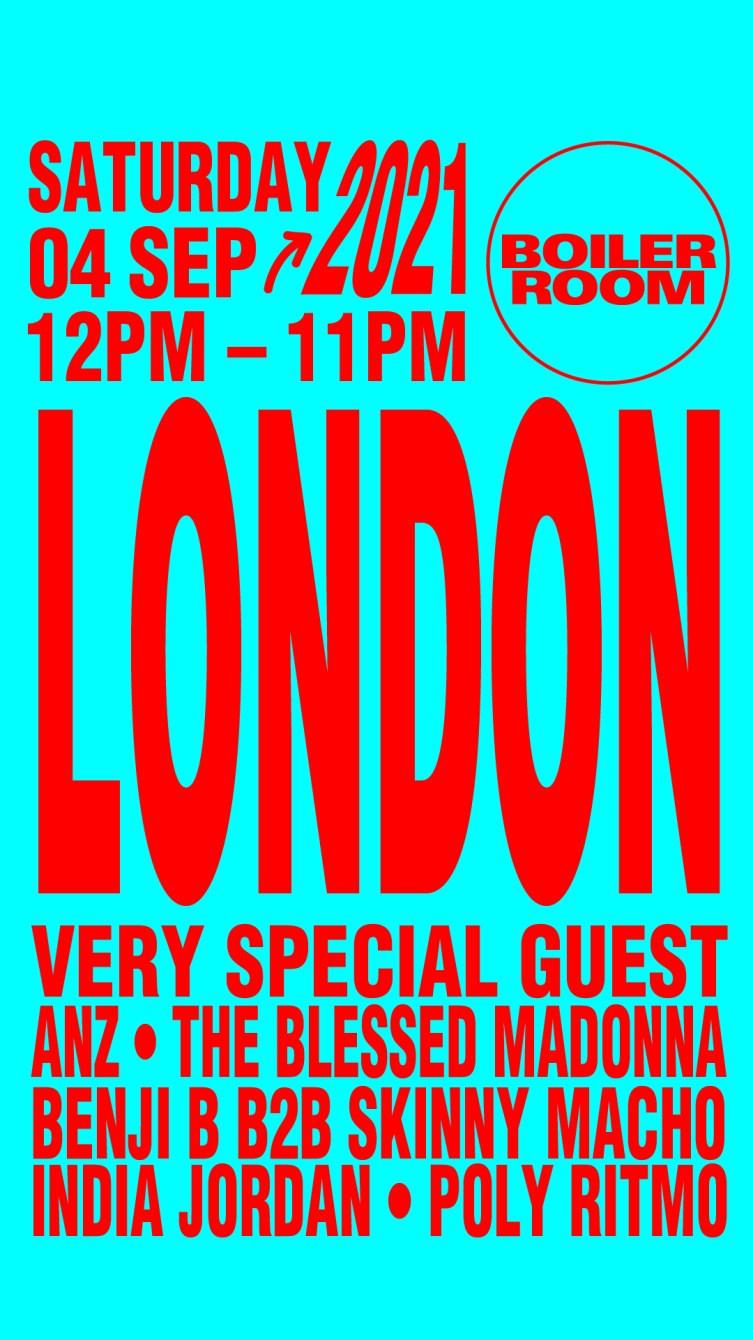 Boiler Room: London - Flyer front