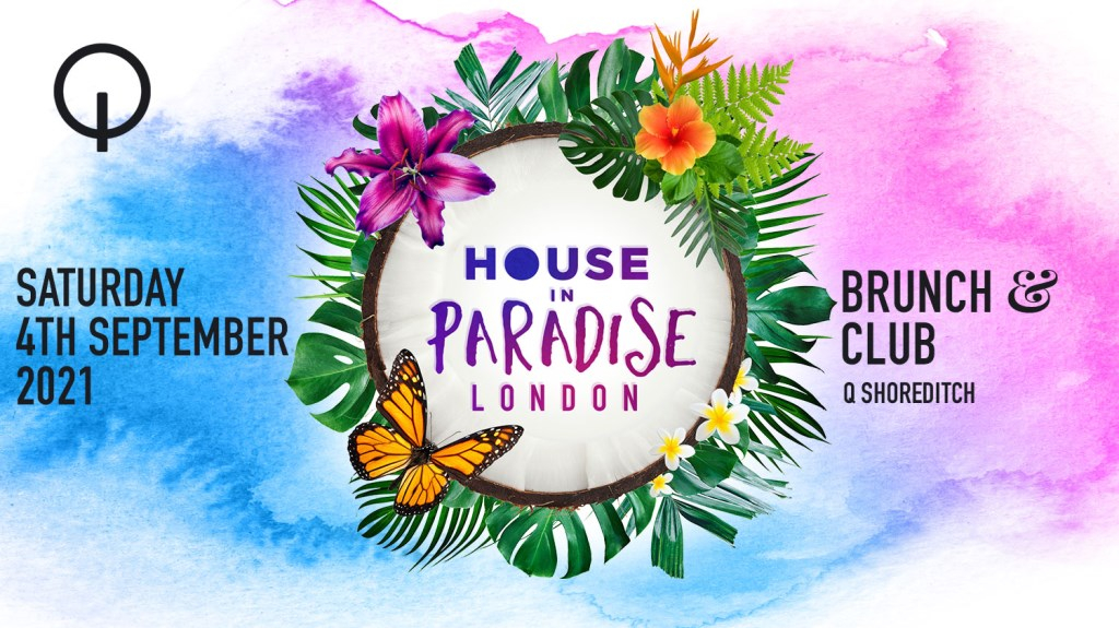House in Paradise Brunch & Club - Flyer front