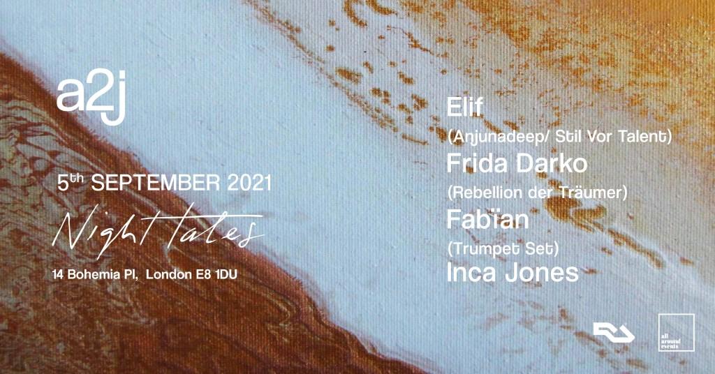 a2j with Elif & Frida Darko - Flyer front