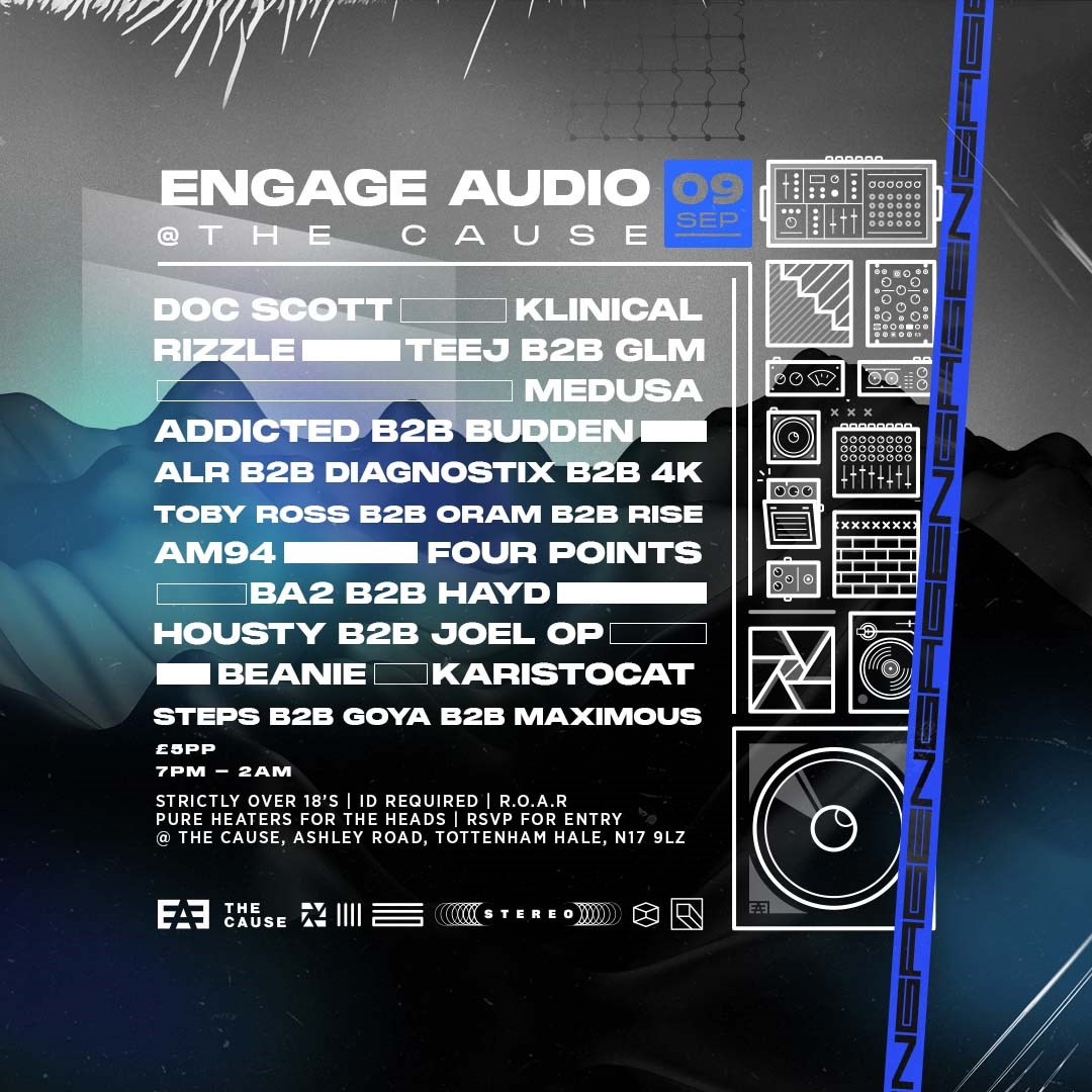 Engage Audio: Thursday Sessions - Monthly Residency at The Cause - Flyer front