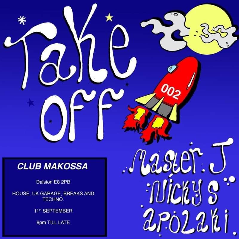 Take-Off 002: Master J, Nicky Sahota, Apolaki - Flyer front